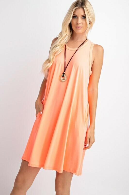 Sleeveless Neon Dress  3X to S!!!