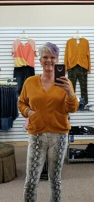 V Neck Chenille Top XL to S!!