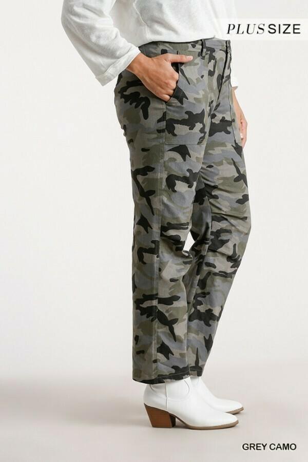 Straight Grey Camo Pants 2XL to S!