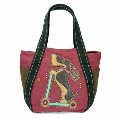 Chala CarryAll Zip Tote With Wiener Dog!!