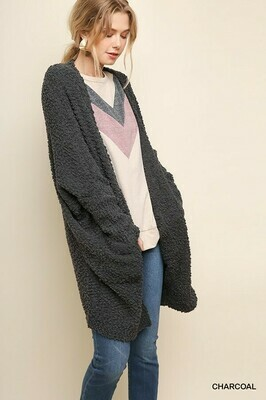 Open Front Cardigan w/Pockets!  2X to S!  UMGEE