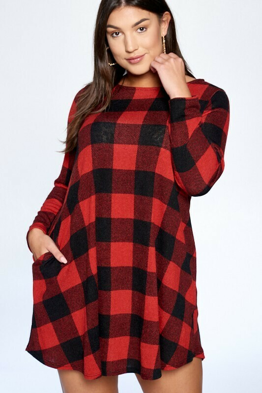 Buffalo Plaid Swing Dress Only 2 Left!!  3X & S!!