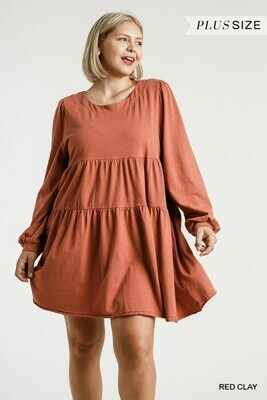 Long Sleeve Tiered Dress - UMGEE  2XL to S!!
