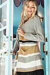 Stripe Cardi w/Pockets!!  3X to S!!