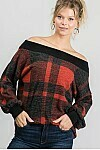 Red & Black Plaid Top  3XL to S!!