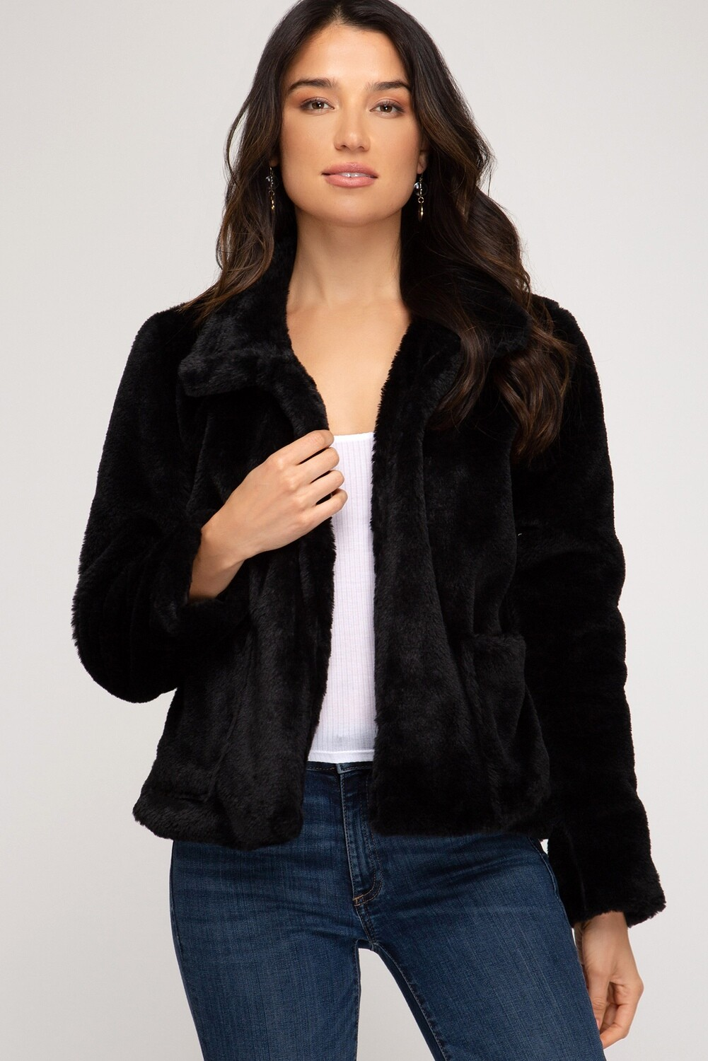 Faux Fur w/pockets!   Only 1 M/L & 1 S/M Left!!