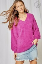 Fuzzy Puff Sleeve Sweater - So soft and comfy!!!!