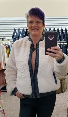 Fur Contrast Jacket