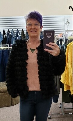 Fur Jacket - So Fun!!  Only 3X & S Left!!