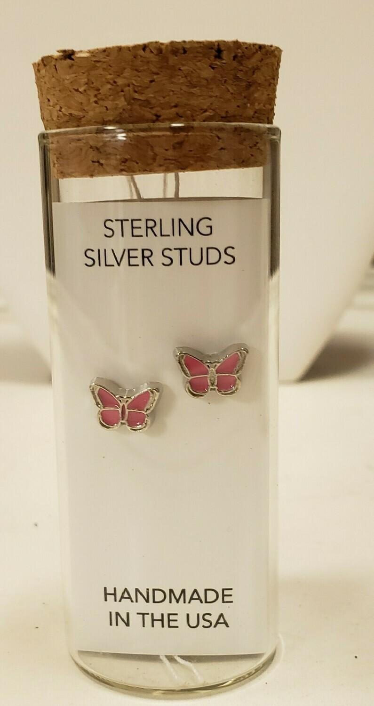 Butterfly Stud Earrings - Little Girl