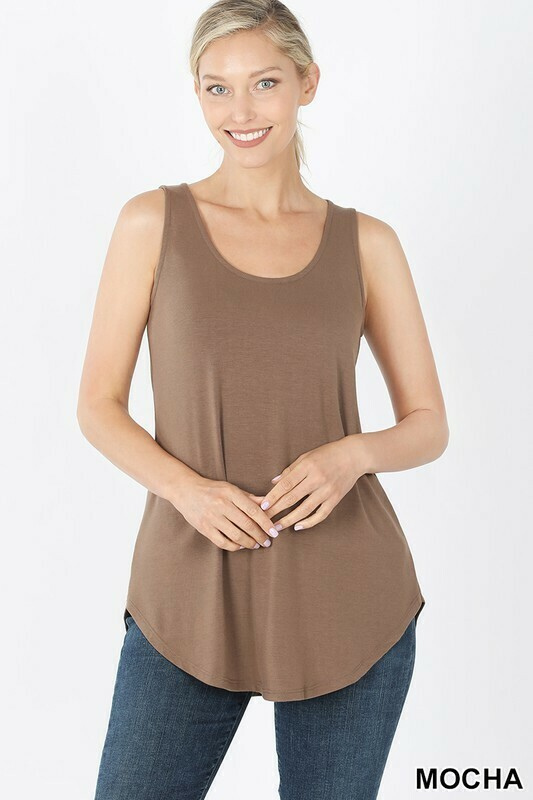 Sleeveless Round Neck Top  3X to S & Lots of Colors!!