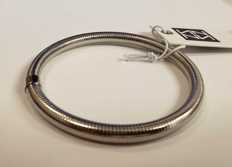Ribbed Metal Bangle Bracelets