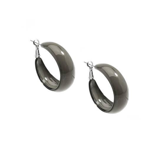 Mod Resin Hoop Earrings