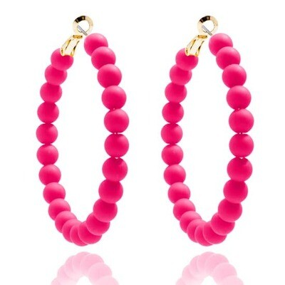 Hoop w matte resin beads