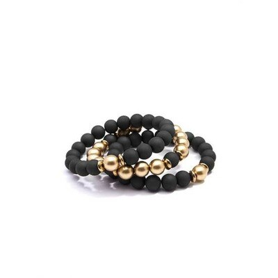 Matte/Metal Stretch Bracelet