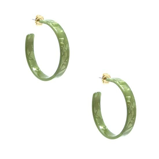 Hoop Acetate Earrings