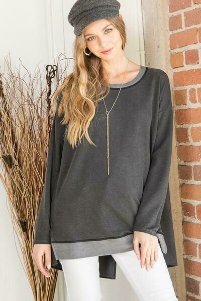 Slit Back Tunic Top  Only 1 3X Left!!