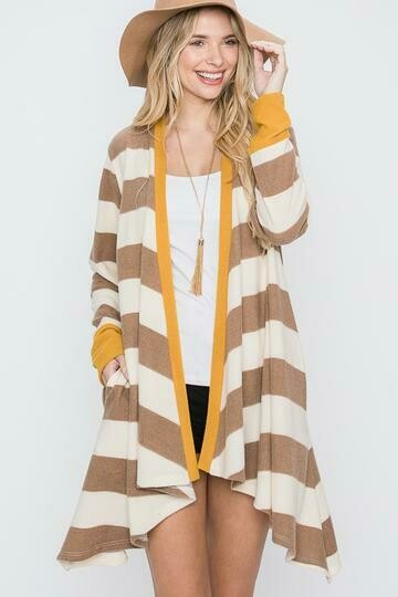 Drape Striped Cardigan 3X to S!!