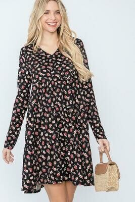 V Neck Tiered Dress!  3X to S!!!!