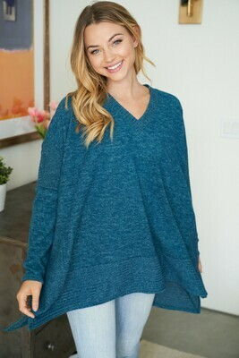 V Neck Hi Lo Top - Soft, Comfy & Oversized!!