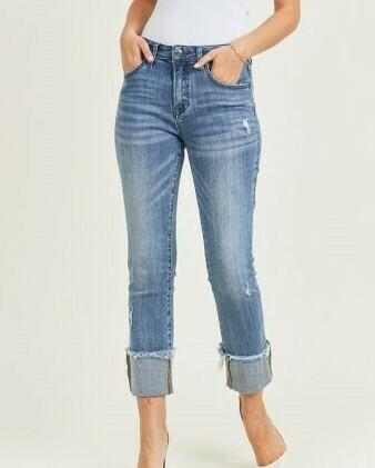 Cuffed Slim Jeans 3X to Size 3!!  Cuffed or Uncuffed!!