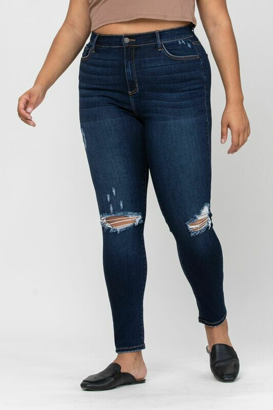 Distressed Knee Skinny Ankle Jean Sizes 22 to 14!!