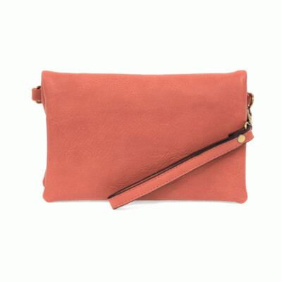 Kate Crossbody Clutch in Coral!