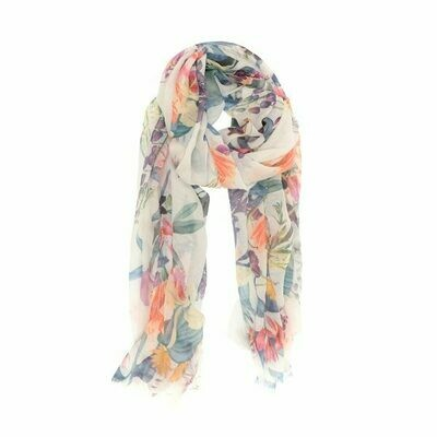 Soft Multi Abstract Scarf