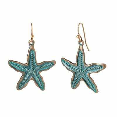 Starfish Earrings with Patina Finish!!