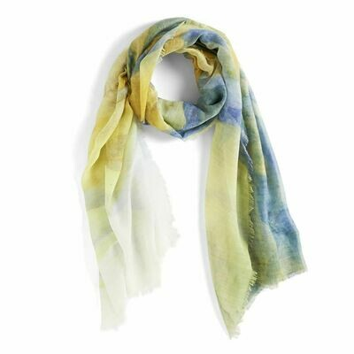 Watercolor Blue Scarf