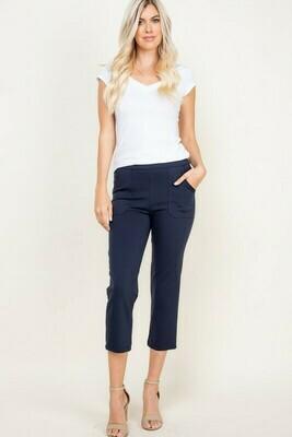 Side Pocket Capri Pants - 3X to S!  Stretchy!