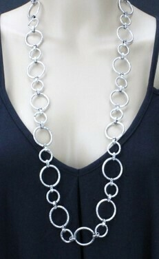 Long Circles Necklace - Lightweight!!