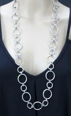 Long Circles Necklace - Lightweight!!