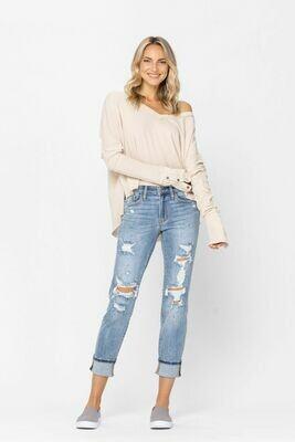Paint Splatter Destroyed Boyfriend Jeans!!  Sizes 20W to 3!!