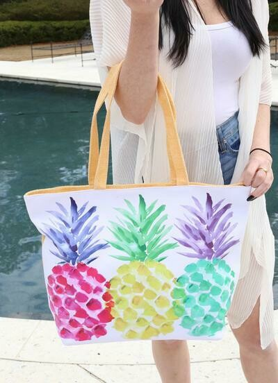 Pineapple Party Tote!!  Even better in person!!