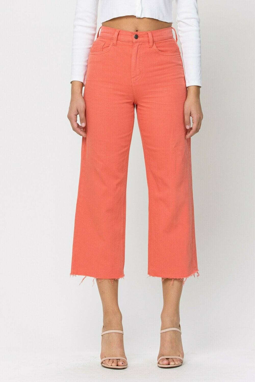 Tangerine Crop Raw Hem Jeans Sizes 13 to 1!