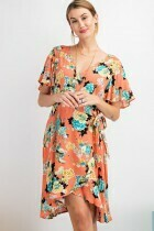 Wing Sleeve Wrap Dress - L to S!