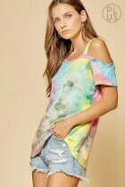 Tye Die One Shoulder Super Soft Top!!  3X to 1X!!