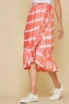 Tie Dye Wrap Skirt  L to S!
