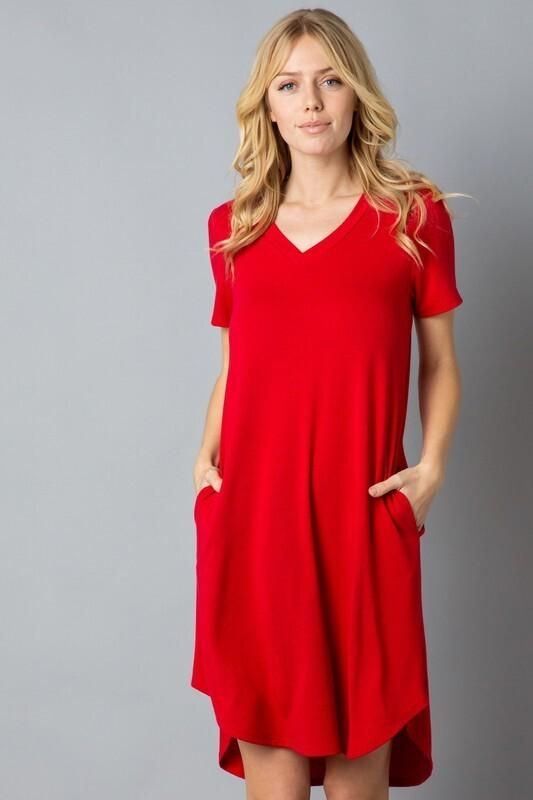 V Neck HiLo Dress with Pockets!!  2XL to S!!!!