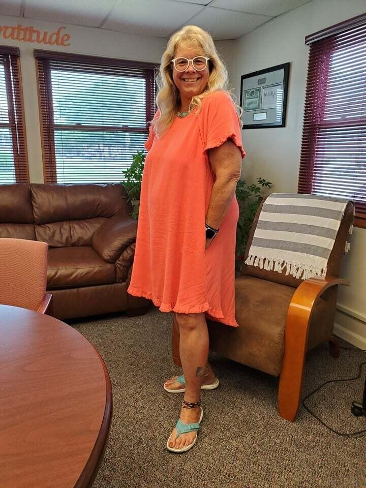 Hi Lo Fringe Sleeve UMGEE Dress 2X to S!!