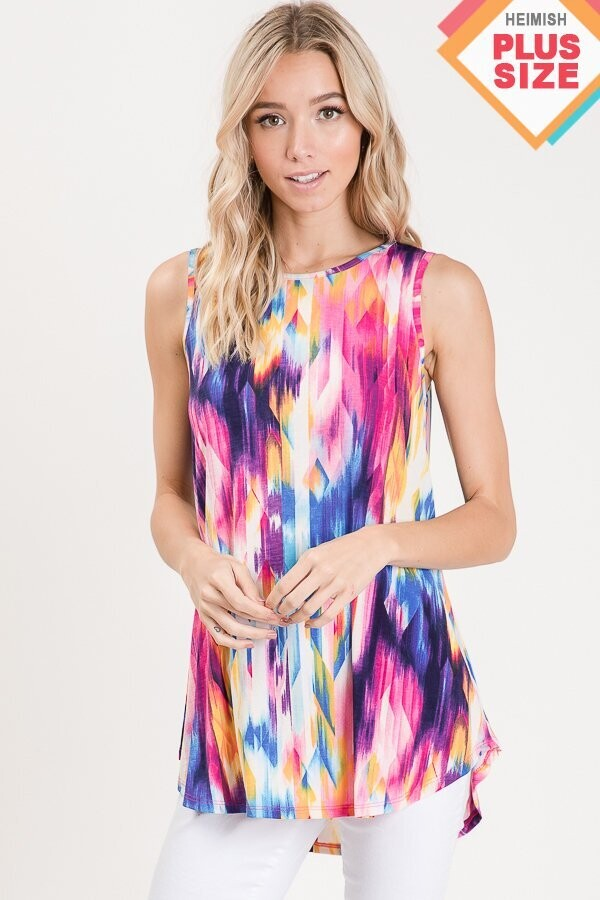 Multi Color Print Top 3X to S!!!