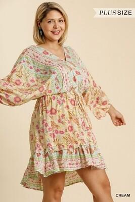 UMGEE Floral Keyhole Dress  2XL to S!!