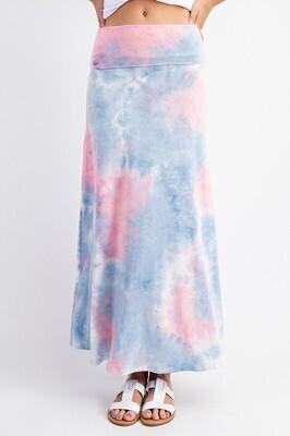 Tie Dye Maxi Skirt - 3X to S!!  Super Soft!!