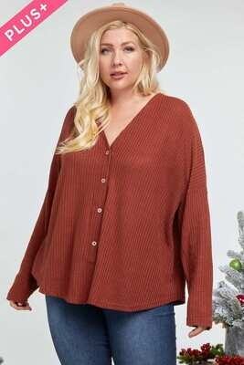 Front Tie Button Down Top  3X to S!!