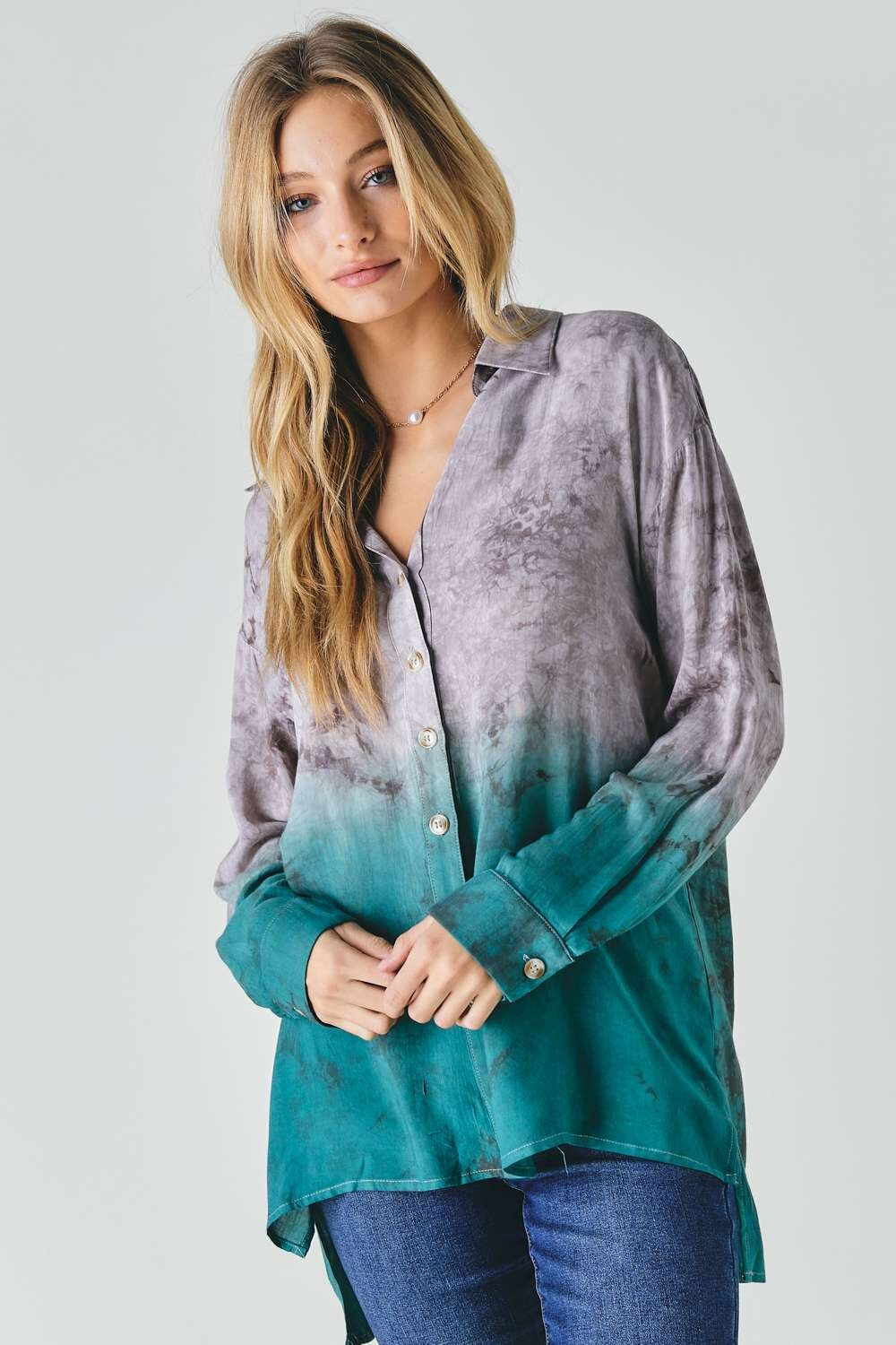 Ombre Button Down Collared - 1 Small Left!!