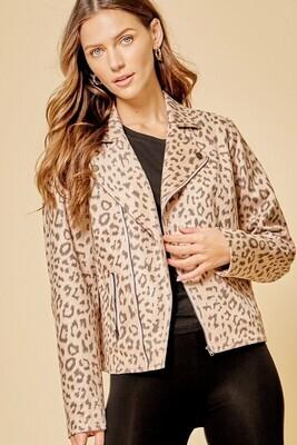 Leopard Motto Jacket - 3X to S!!!   Super Soft!!!