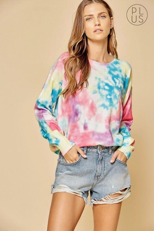 Tie Dye Lightweight Sweater  3X to S!!!