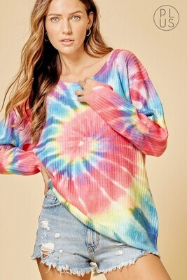Circle Tie Dye Sweater!  3X to S!!  The Colors!!