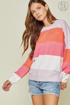 Striped Lightweight Sweater  3X to S!!!